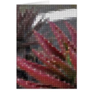 Mosaic Red-Green Aloe 3 Greeting Card