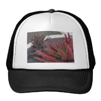 Mosaic Red-Green Aloe 3 Mesh Hat