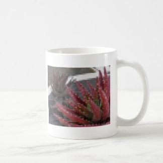 Mosaic Red-Green Aloe 3 Mugs