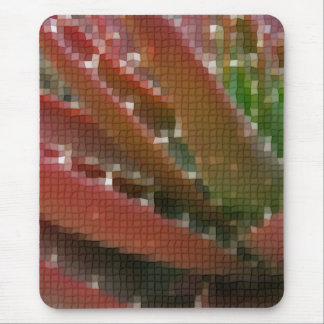 Mosaic Red-Green Aloe 4 Mouse Pad