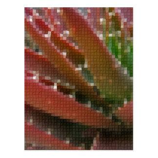 Mosaic Red-Green Aloe 4 Postcard