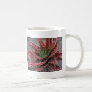 Mosaic Red-Green Aloe 5 Mugs