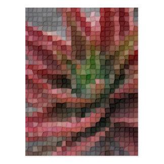 Mosaic Red-Green Aloe 5 Postcard