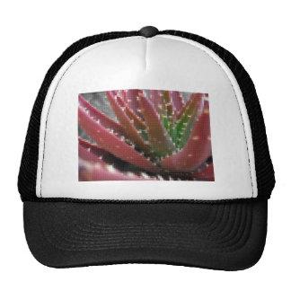 Mosaic Red-Green Aloe Mesh Hats