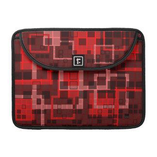 Mosaic Red Maroon Macbook Pro Flap Sleeve Sleeve For MacBook Pro