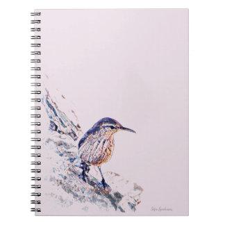 Mosaic Rock Wren Spiral Notebook