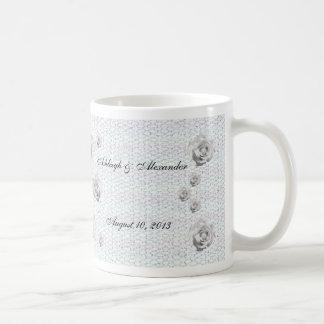 Mosaic Rose Basic White Mug