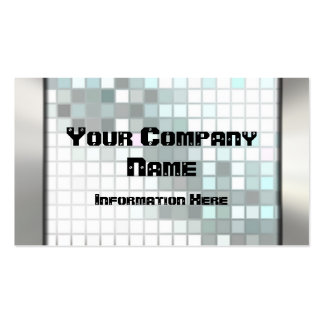 Mosaic Silver Metal Look Business Cards