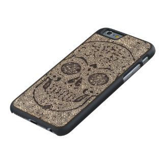 Mosaic Skull Carved Maple iPhone 6 Case