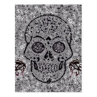 Mosaic Skull Postcard