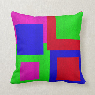 Mosaic Square  Blocks Abstract Throw Cushion, Cushion