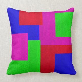 Mosaic Square  Blocks Big Throw Cushion. Cushion