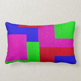 Mosaic Square  Blocks Lumbar  Cushion, Lumbar Cushion