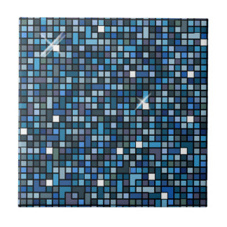 Mosaic Squares Blue SSTX Small Square Tile