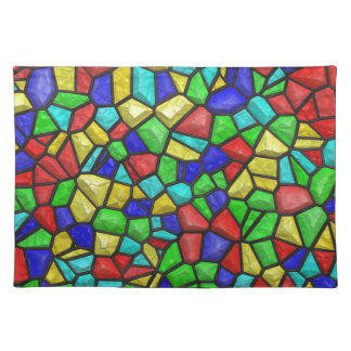 Mosaic Stained-glass Window Retro Vintage Pattern Place Mat