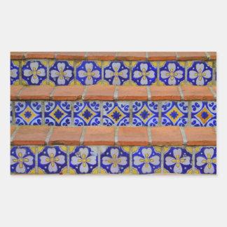 Mosaic Stairs Rectangular Stickers