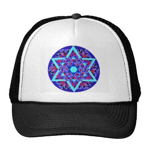 Mosaic Star of David. Mesh Hat