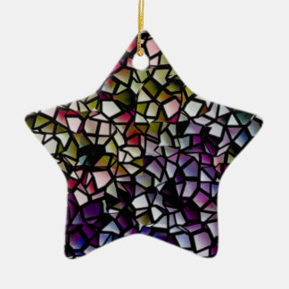 mosaic star ornament
