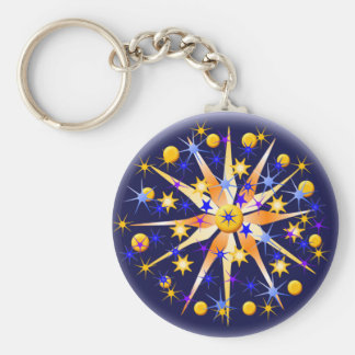 Mosaic Stars Keychain