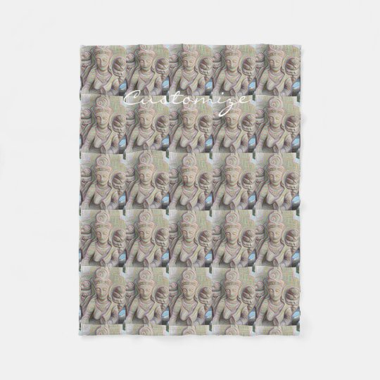 mosaic stone buddhas Thunder_Cove Fleece Blanket