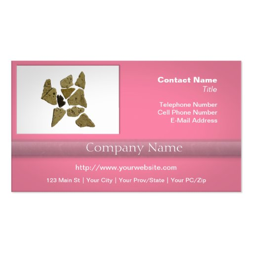 Mosaic Stone Man Business Cards