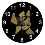 Mosaic Stone Man Wall Clocks