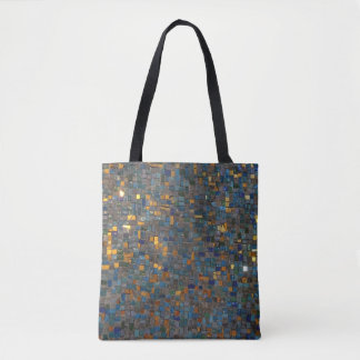 Mosaic Stones in Blue and Gold Tote Bag