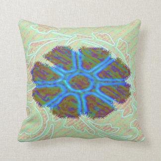 mosaic style flower, throw pillow