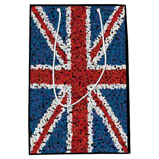 Mosaic Style Union Jack Flag Medium Gift Bag