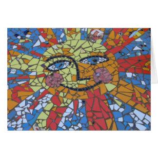 Mosaic Sun Card
