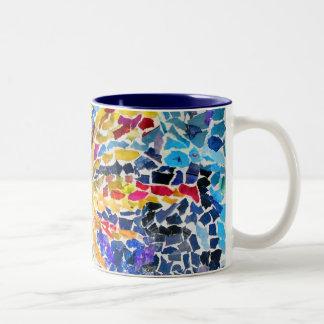 Mosaic Sun Two-Tone Coffee Mug