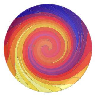 Mosaic Swirl. Plate