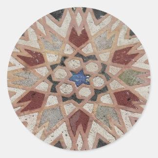 Mosaic tesselate ornamental star - Sticker