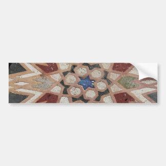 Mosaic tesselate ornamental star - Sticker Bumper Sticker