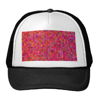 Mosaic Tile Abstract Pink Red Pattern Cap