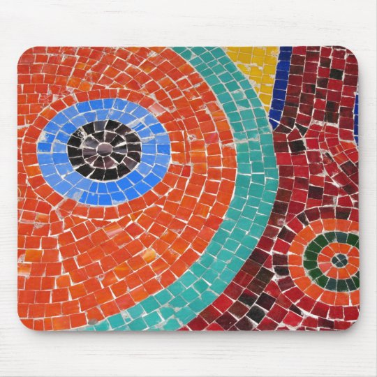 mosaic tile art mouse pad