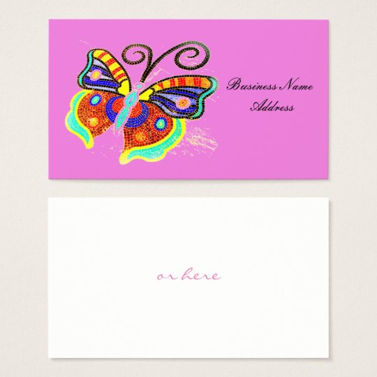 mosaic tile butterfly Thunder_Cove Business Card