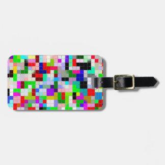 Mosaic Tile Luggage Tag