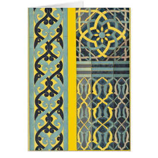 Mosaic Tile pattern any color Greeting Card