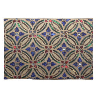Mosaic tile pattern stone glass Moroccan photo Placemat
