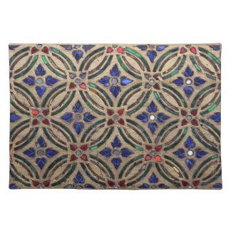 Mosaic tile pattern stone glass Moroccan photo Placemats