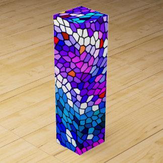 Mosaic Tile Pattern Wine Gift Box