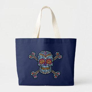 Mosaic Tile Pirate Large Tote Bag