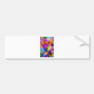 Mosaic Tile Rainbow Bumper Sticker