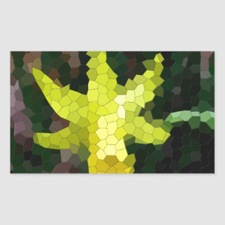 Mosaic Tiled Yellow Daffodil Rectangular Sticker