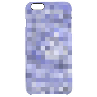 Mosaic Tiles Blurry Blue – Shades of Blue Clear iPhone 6 Plus Case