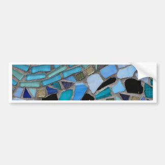 Mosaic Tiles of Blue and Green Bumper Sticker