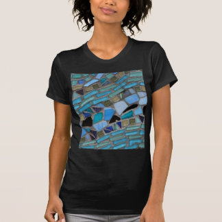 Mosaic Tiles of Blue and Green T-Shirt