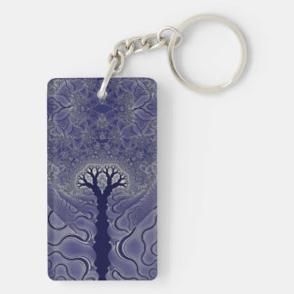 Mosaic Trees Key Ring