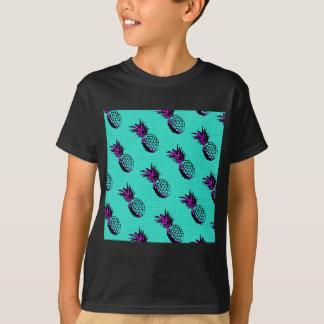 mosaic turquoise blue pineapple pattern T-Shirt
